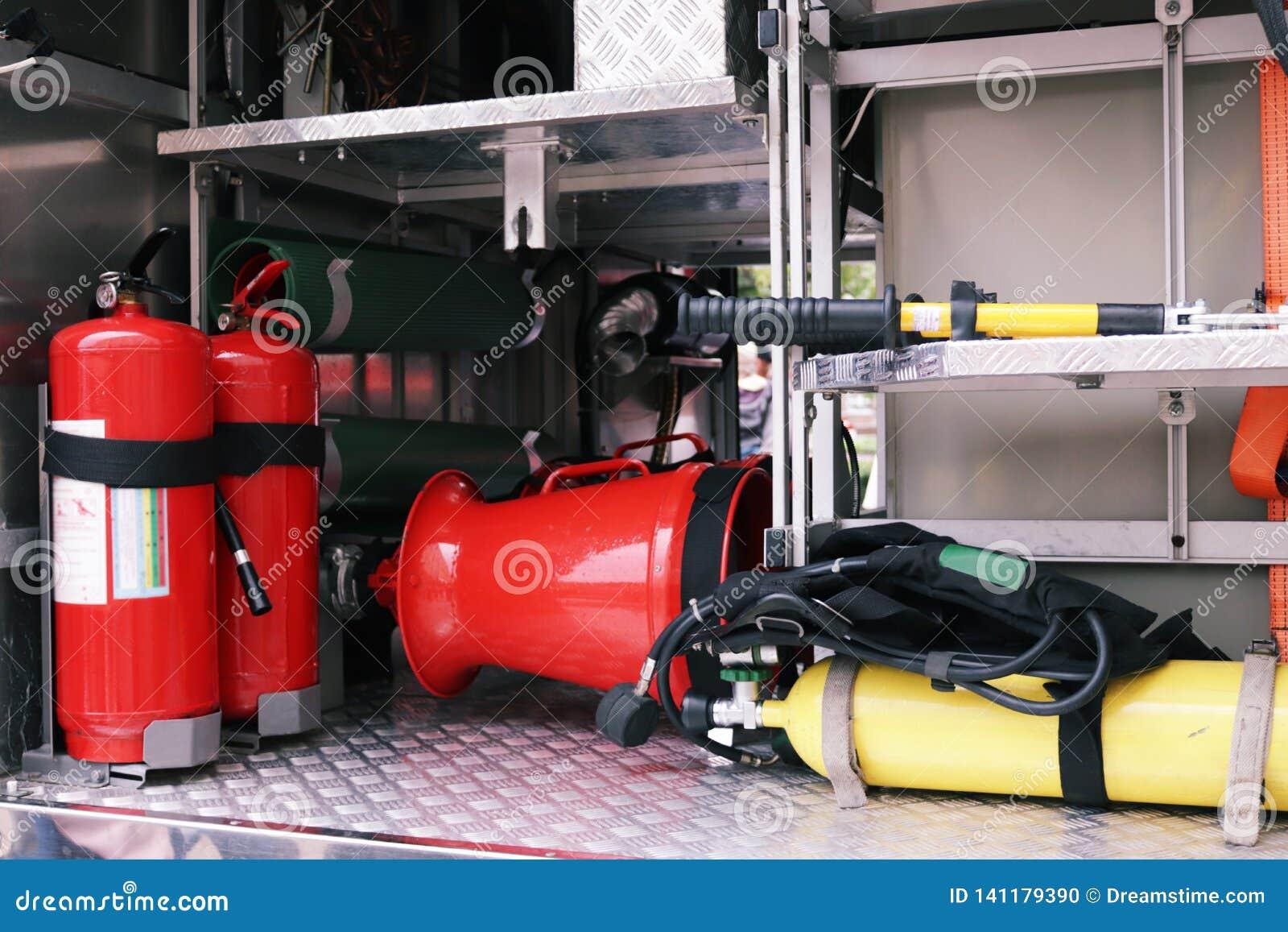 Detalles y estructura del coche de bomberos
