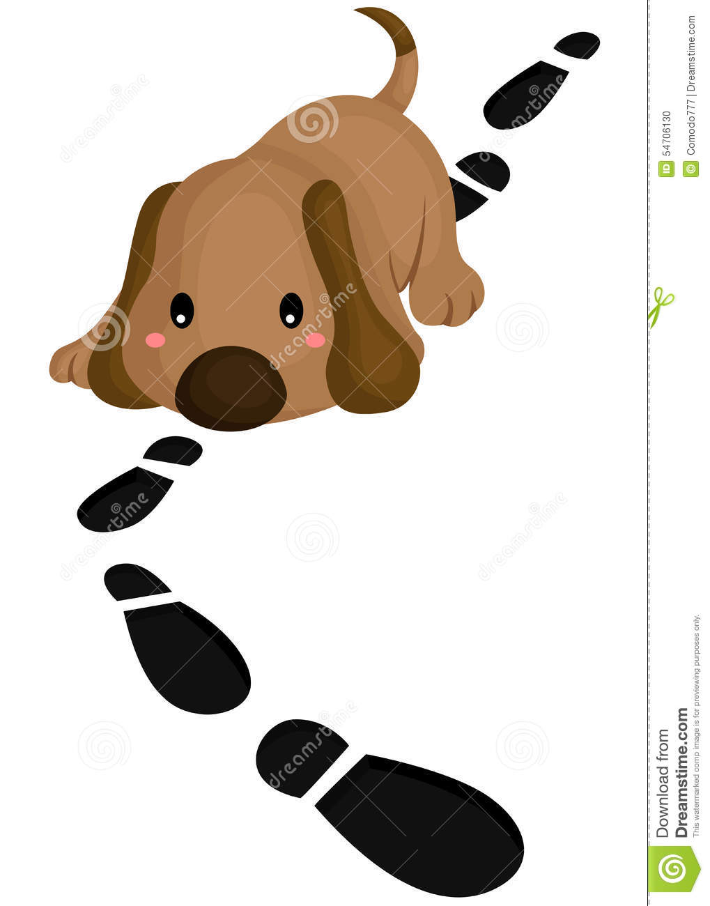 Detective Dog Stock Vector - Image: 54706130