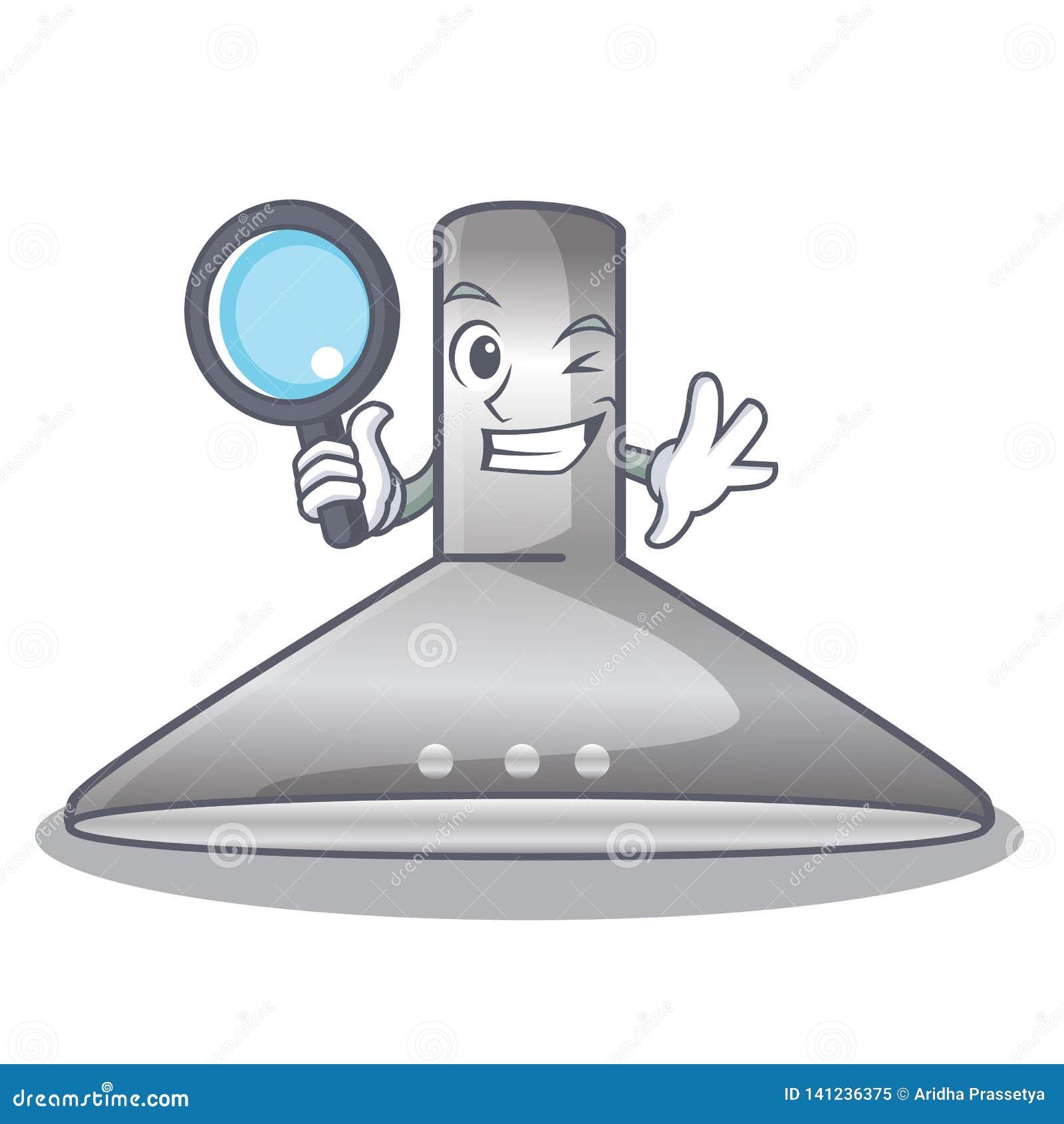 Detective kichen hood in the mascot shape