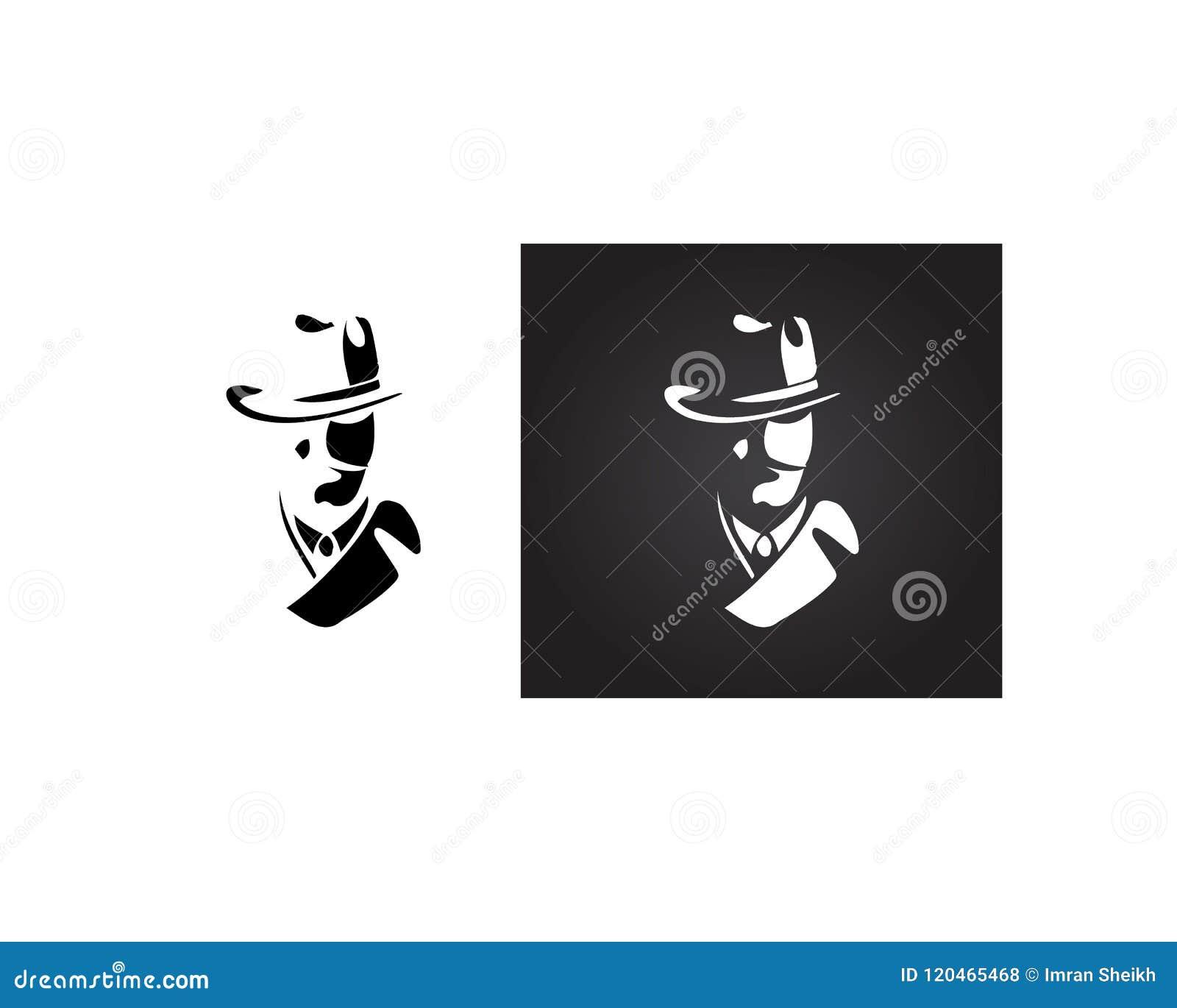 Detective Logo Template Online Store Vectors Illustration