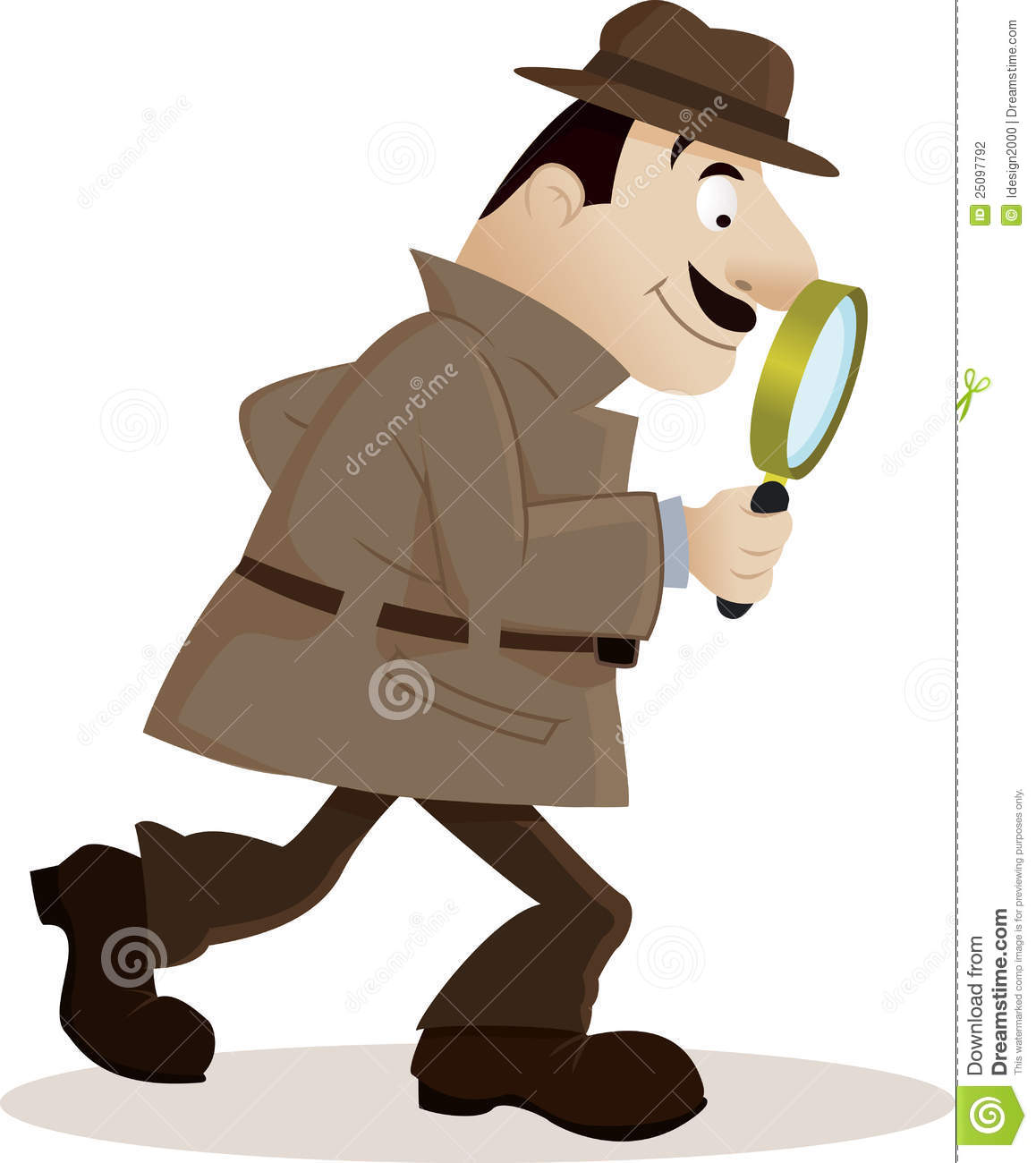 Child With Magnifying Glass Clipart