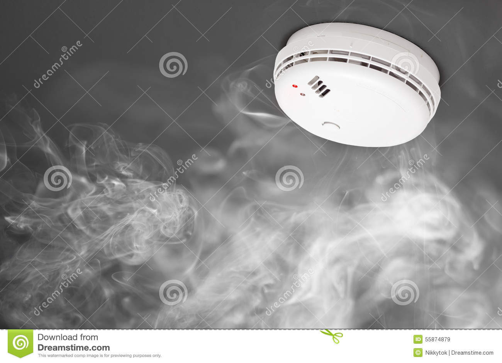 Detector de humo de la alarma de incendio