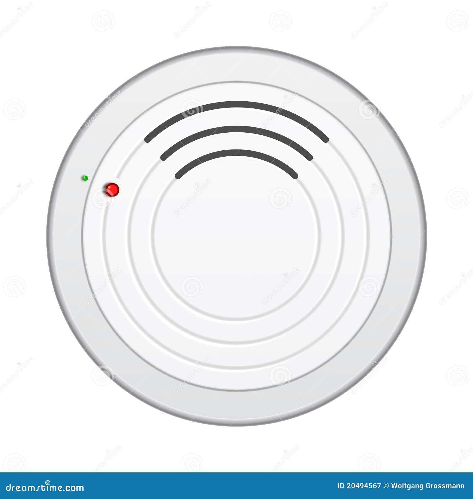 Detector de humos stock de ilustración. Ilustración de interior ...