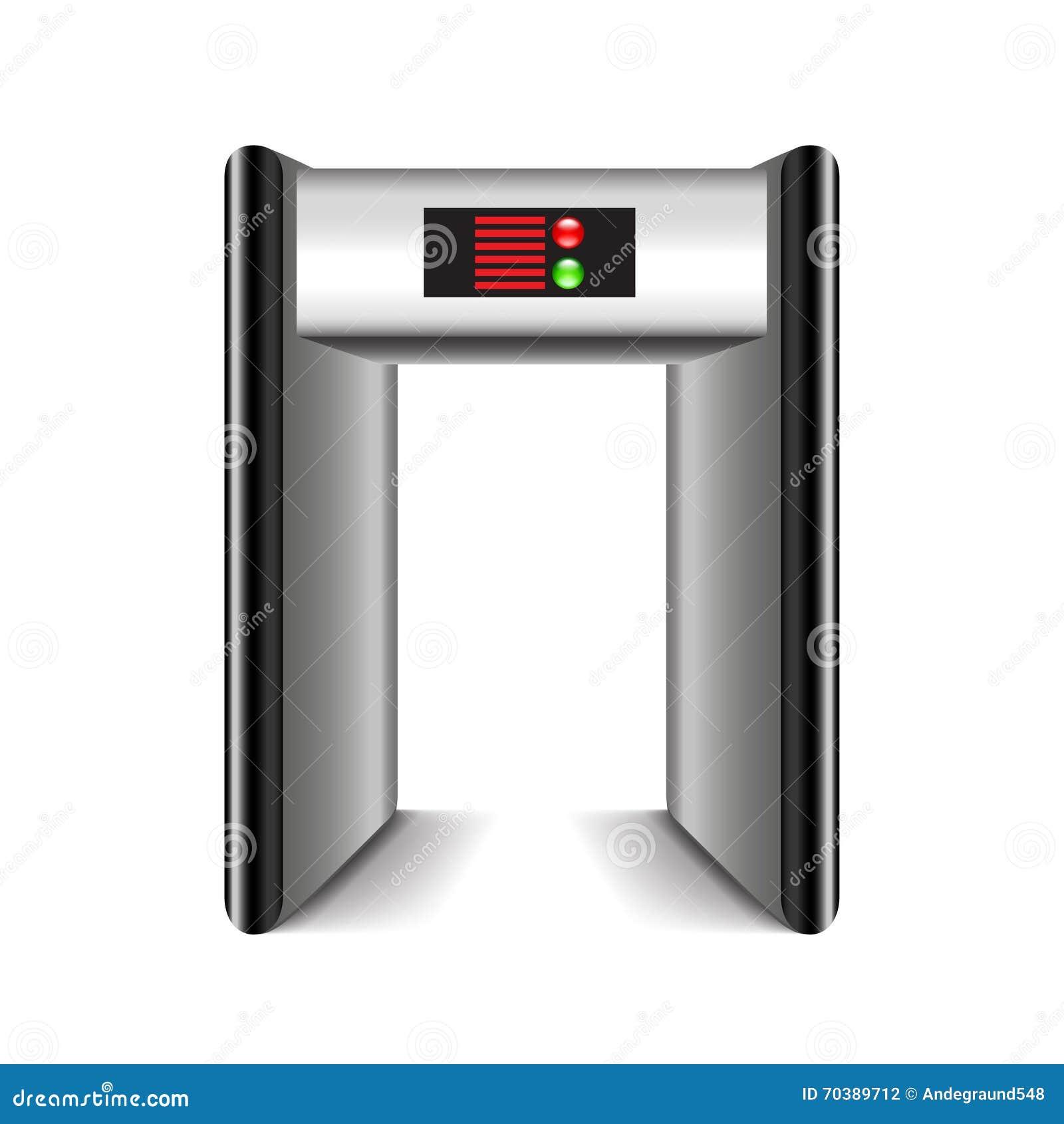 Detector De Metales Del Marco De Puerta Aislado En El Vector Blanco ...