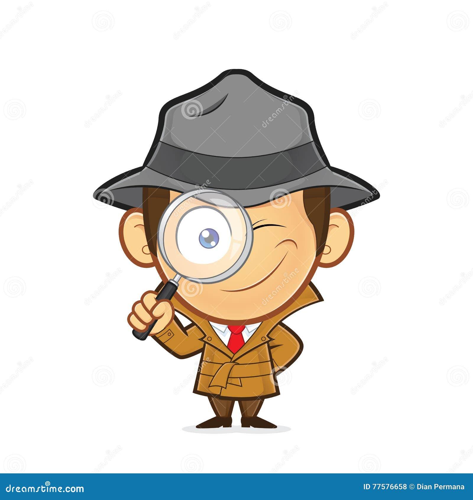 detektiv  der eine lupe h u00e4lt vektor abbildung clipart magnifying glass free clip art magnifying glass border