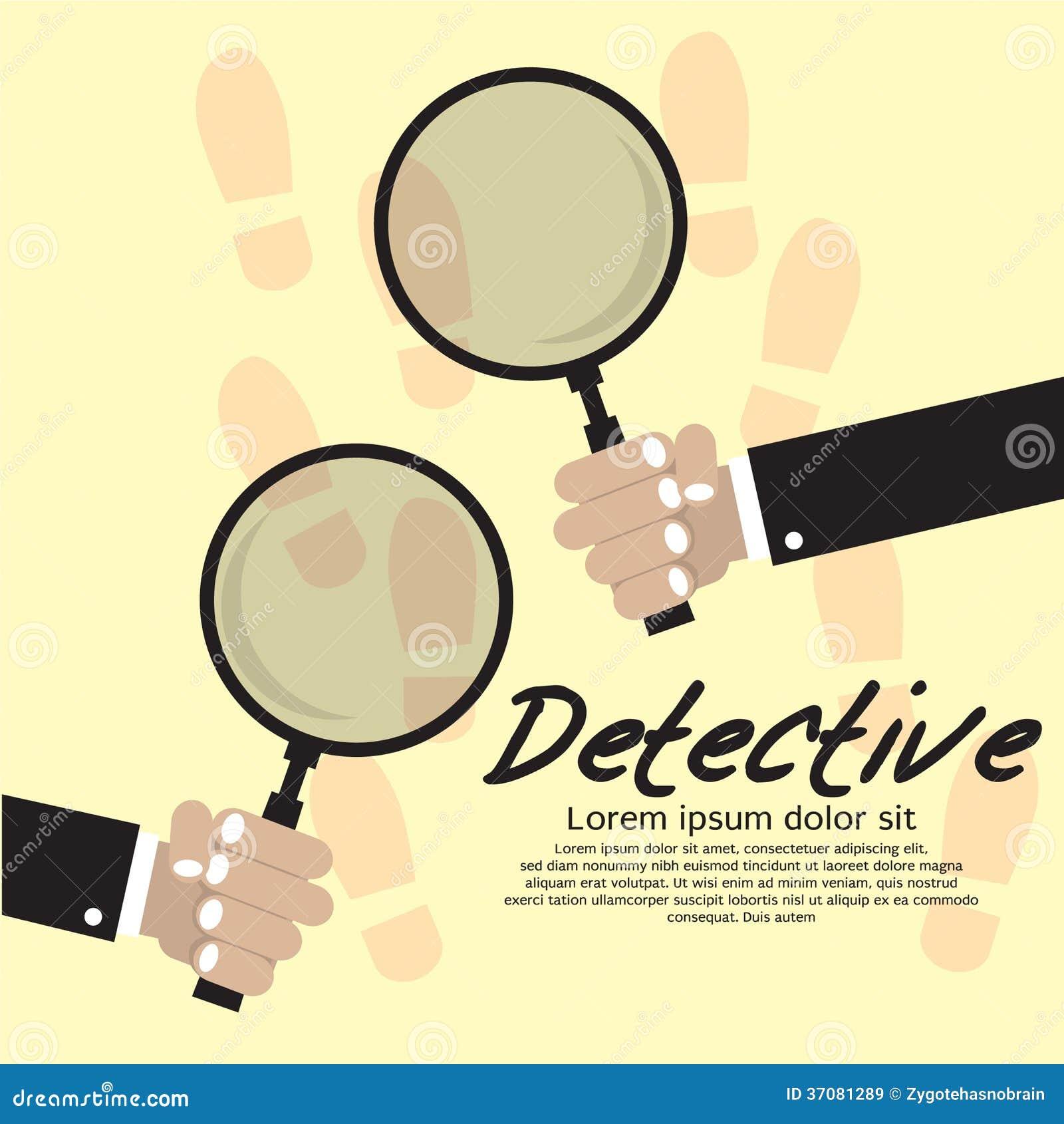 Download Detektyw. ilustracja wektor. Ilustracja złożonej z odkrywa - 37081289