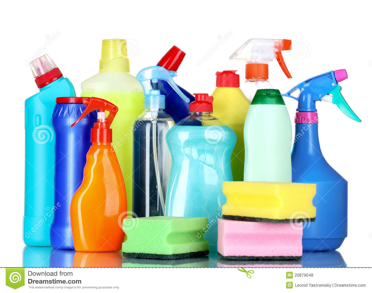 Detergent Bottles And Sponges Royalty Free Stock Photos - Image ...