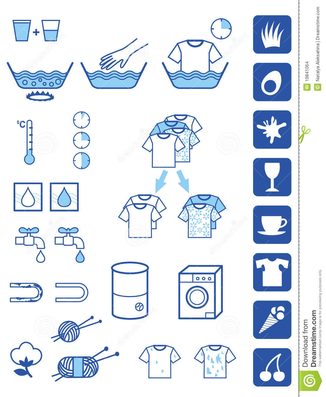 Detergent Powder Symbols Stock Vector Illustration Of Sign