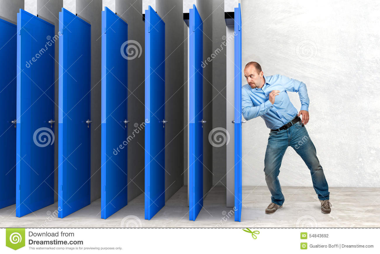 Determination stock illustration image 54843692 for Farcical person