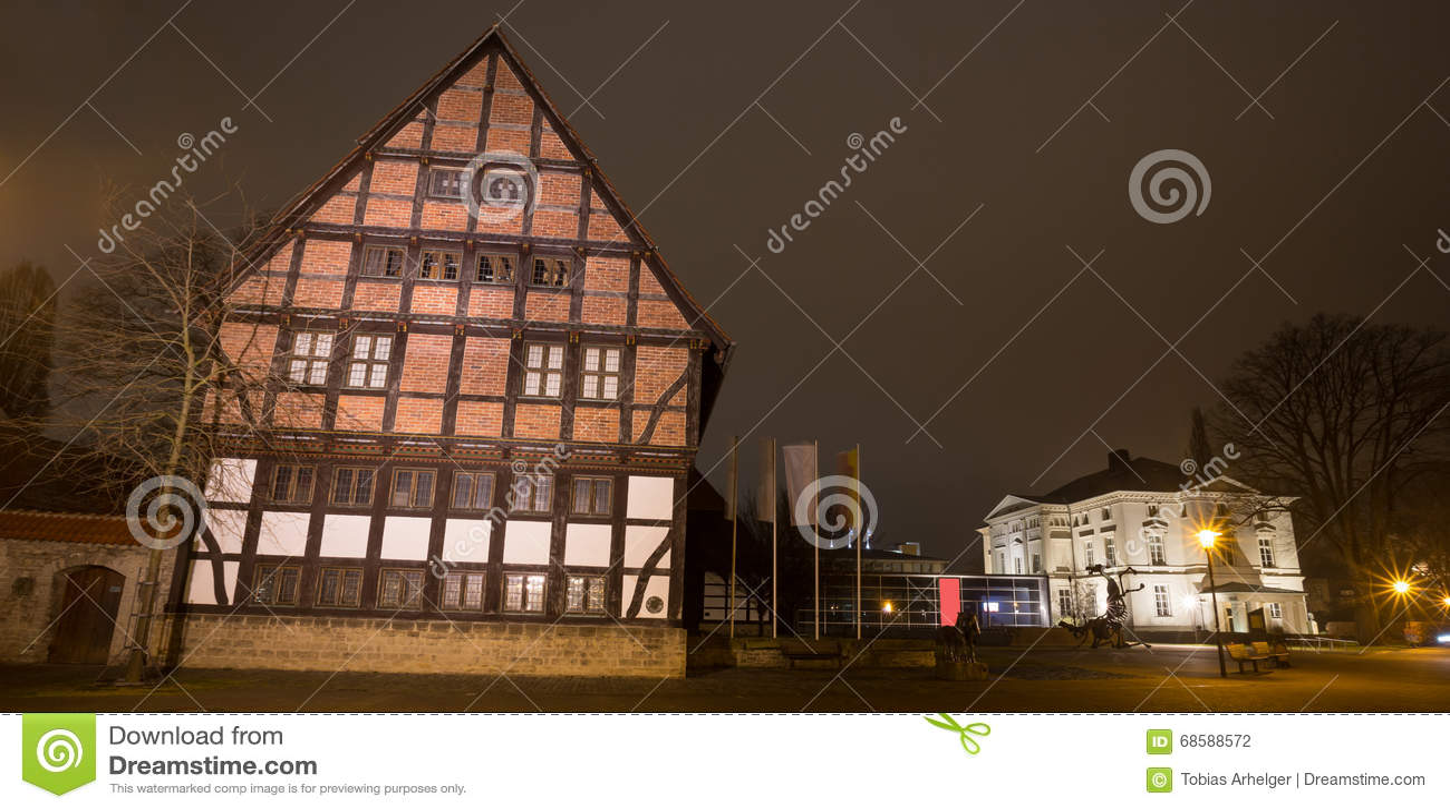 Detmold Germania del museo nella sera