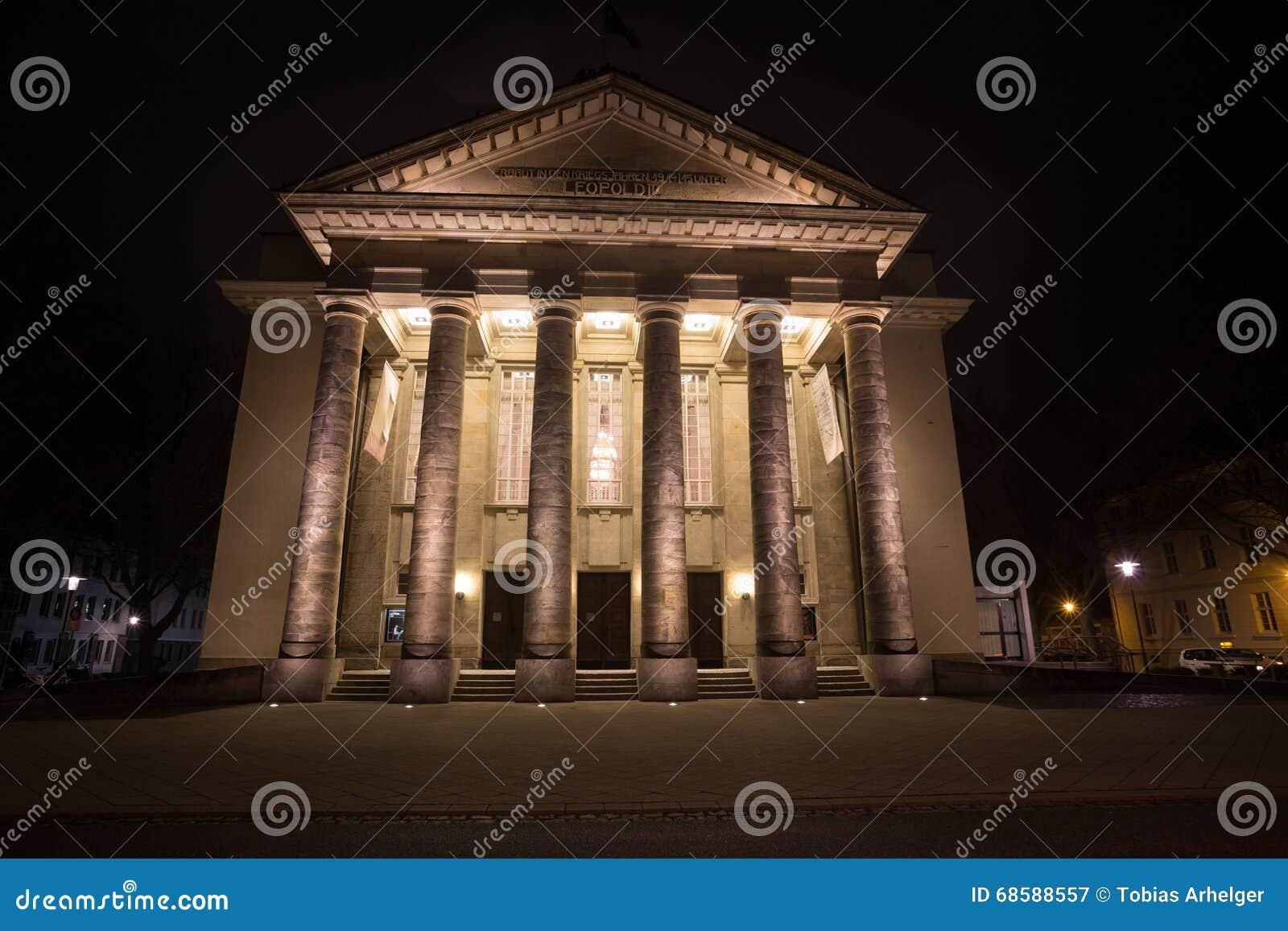 Detmold Germania del teatro nella sera