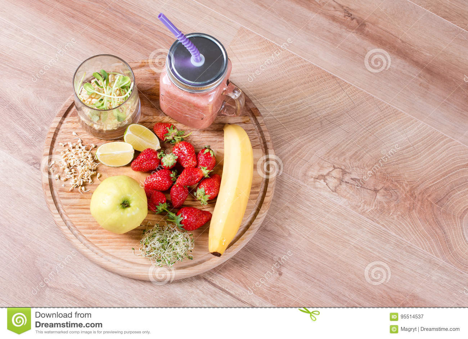 Detox Cleanse Drink Fruits And Berries Smoothie Ingredients