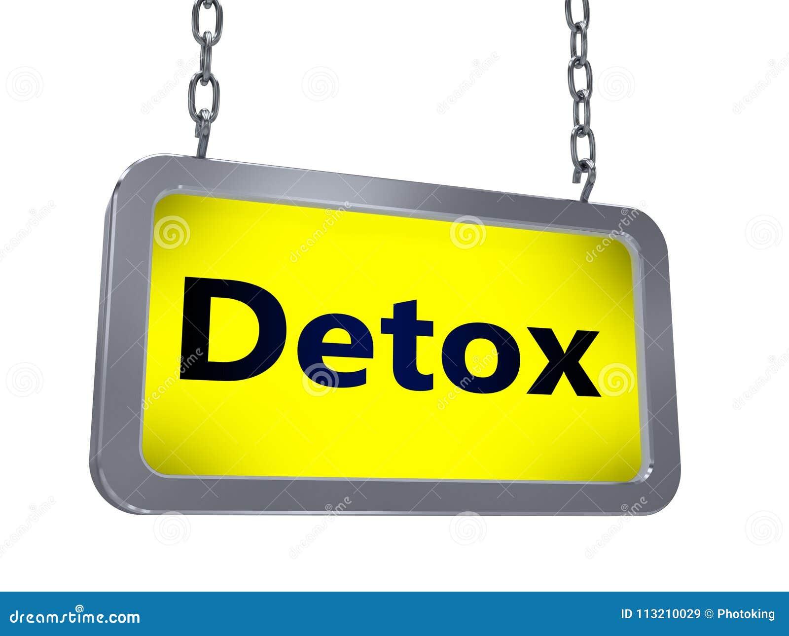 Detox op aanplakbord