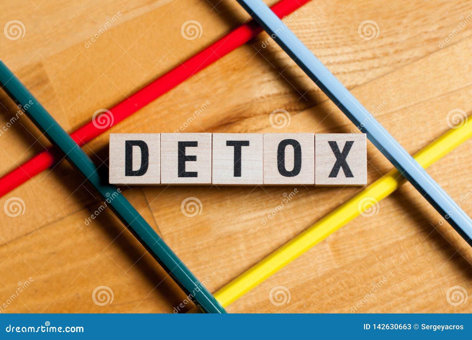 Detox word concept