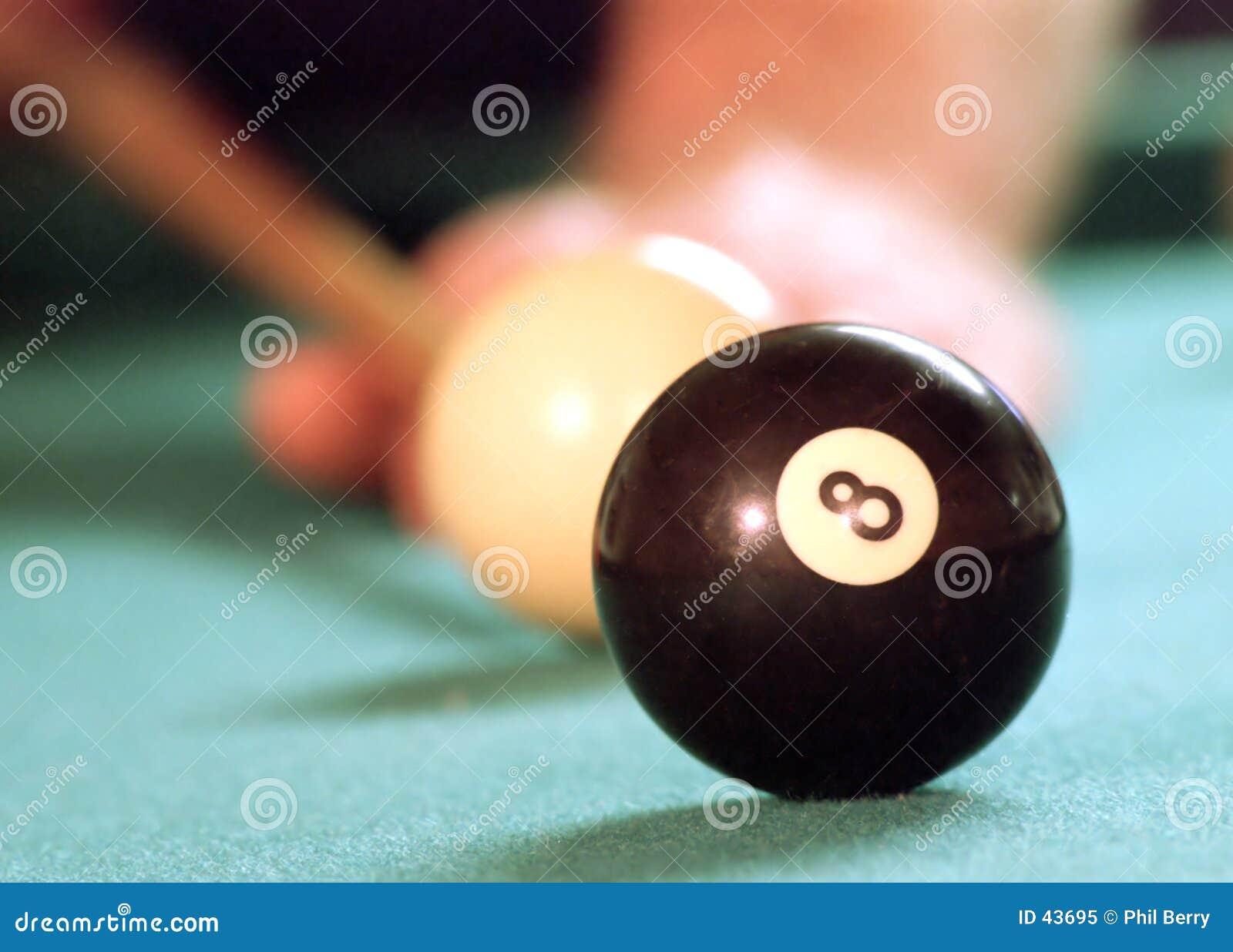 Download Detrás de la bola 8 imagen de archivo. Imagen de verde, piscina - 43695