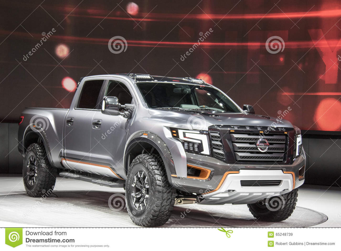 detroit 17 gennaio il camion 2017 di nissan titan pickup al immagine stock editoriale. Black Bedroom Furniture Sets. Home Design Ideas