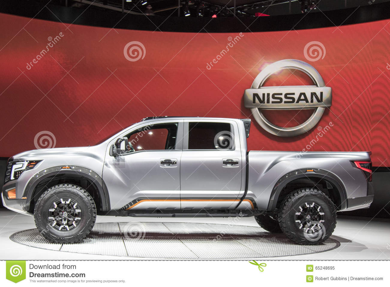 detroit january 17 the 2017 nissan titan pickup truck at the editorial image image 65248695. Black Bedroom Furniture Sets. Home Design Ideas