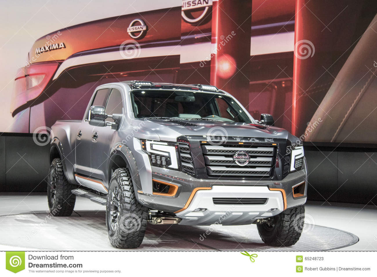 detroit january 17 the 2017 nissan titan pickup truck at the editorial stock photo image. Black Bedroom Furniture Sets. Home Design Ideas