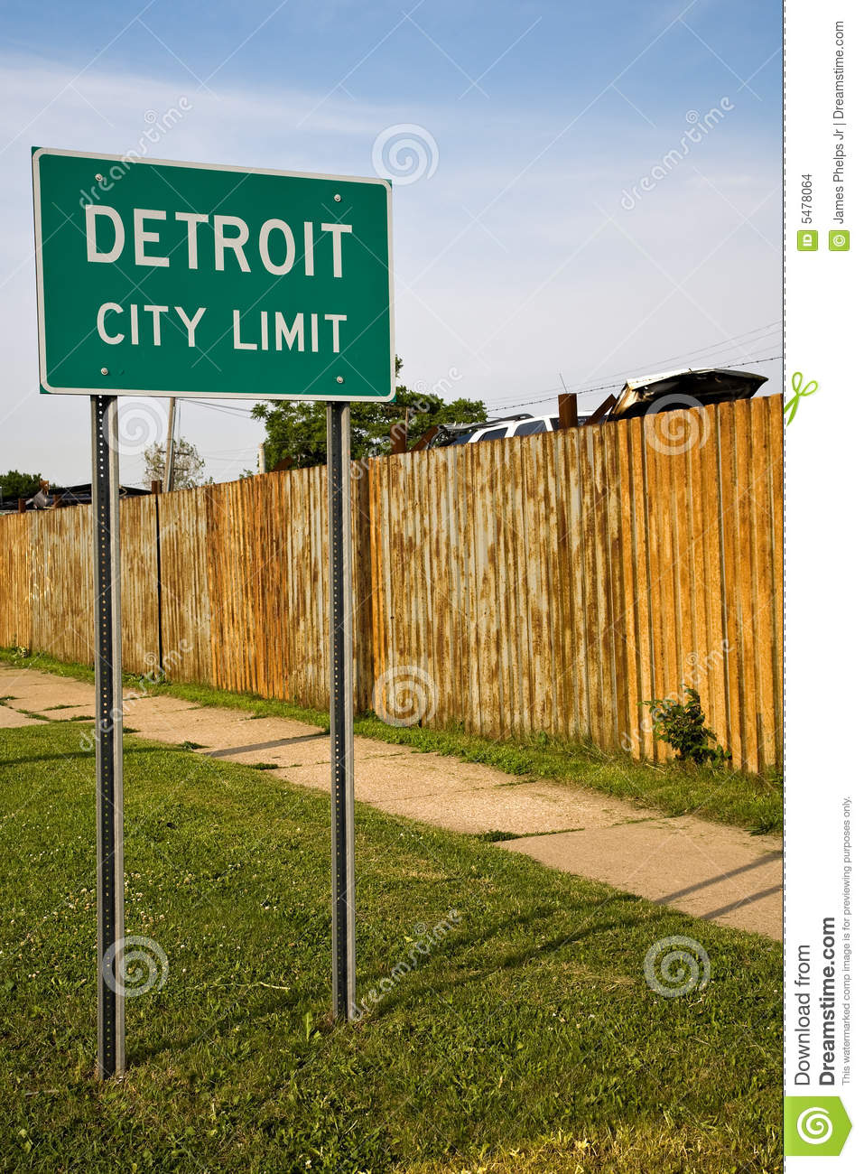 Detroit Michigan City Limit Sign