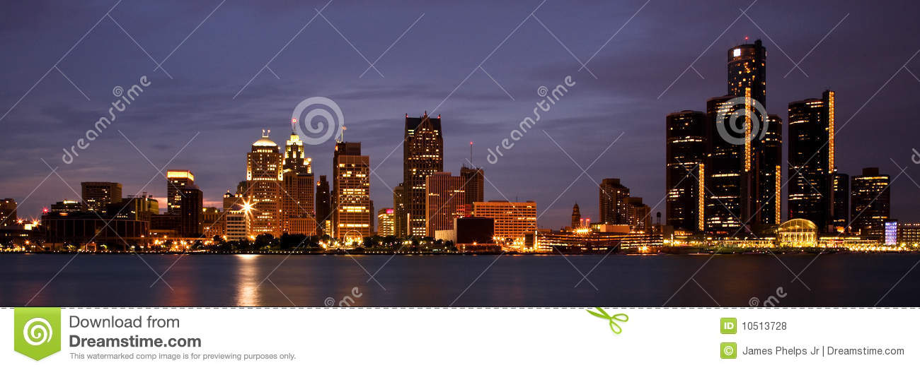 Detroit michigan horisont