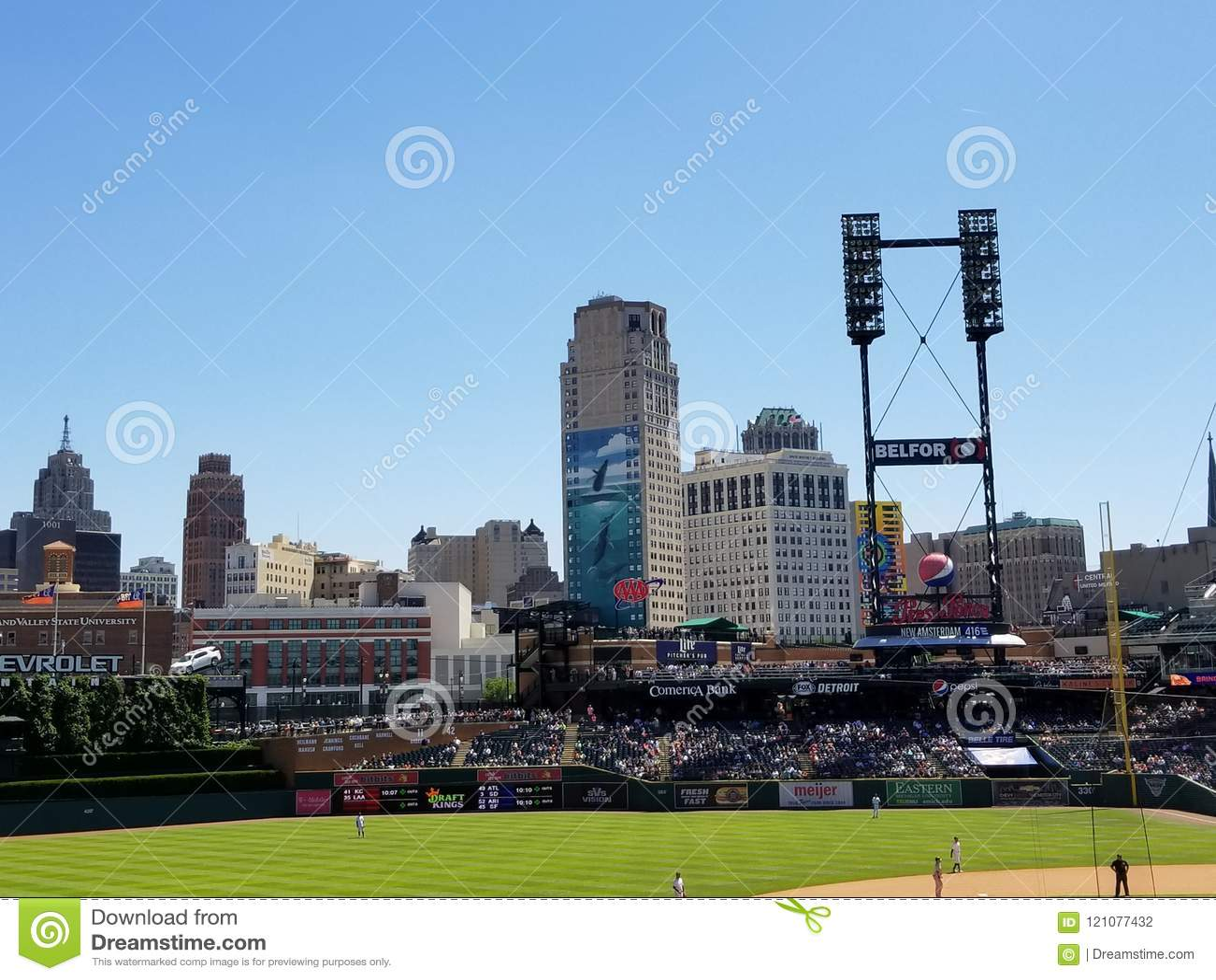 Detroit Skyline from Comerica Park