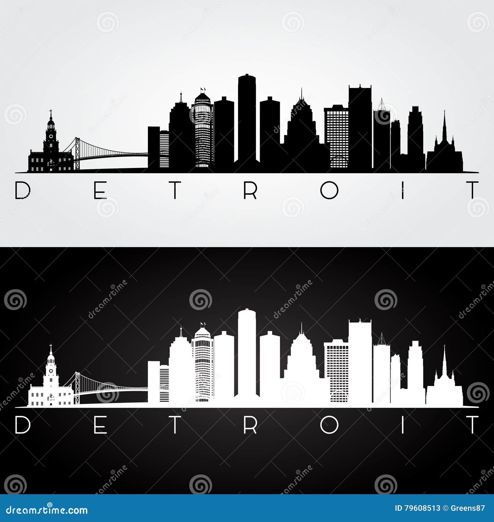 Detroit-Skylineschattenbild