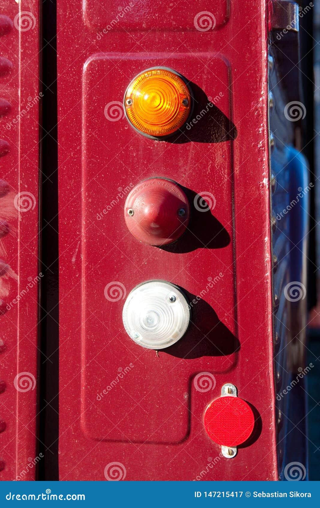 Dettagli d annata anziani di Citroen del camion dell alimento