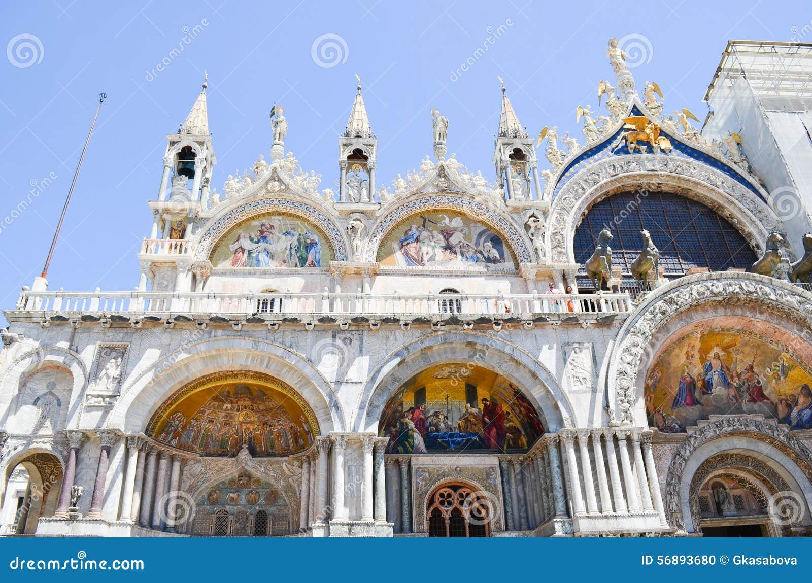 Dettagli di Palazzo Ducale a Venezia, Italia