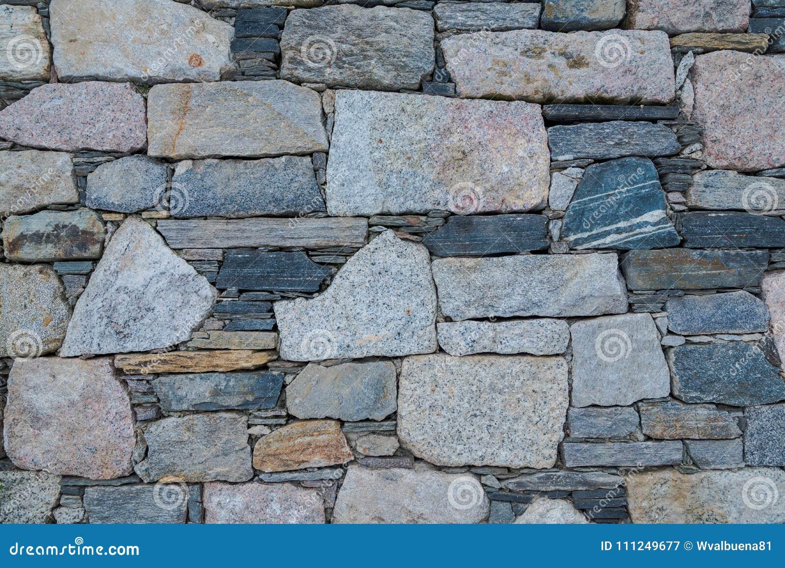 Dettagli di una parete fatta dalle vecchie pietre
