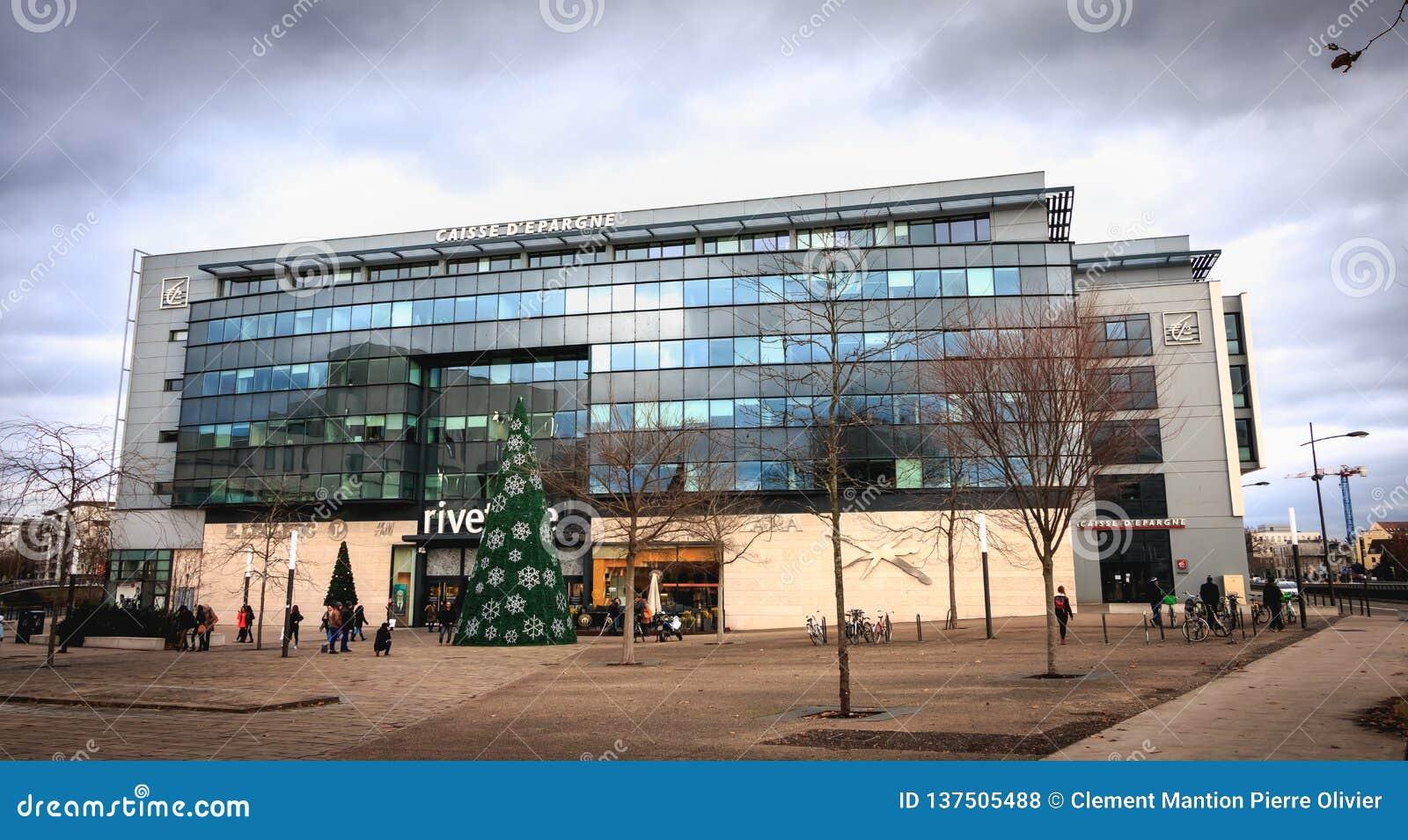 Dettaglio architettonico della sede sociale di Societe Generale grande Est Europa