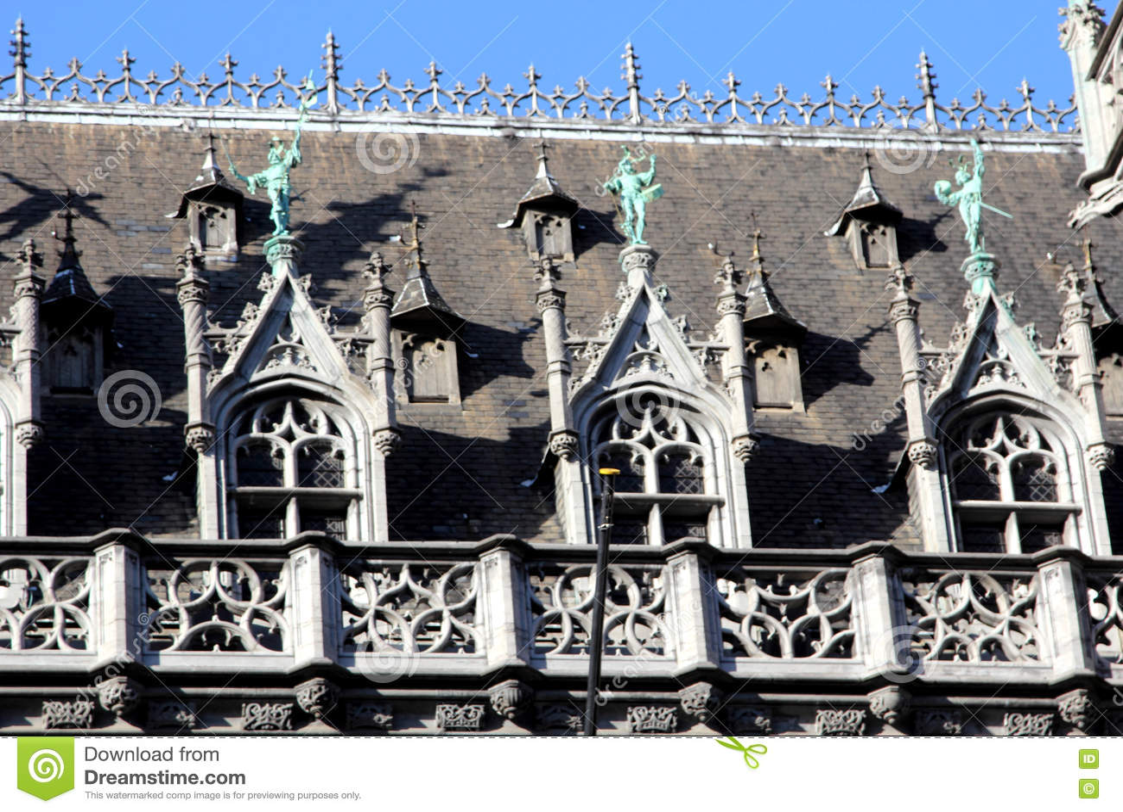Dettaglio architettonico in Grand Place di Bruxelles