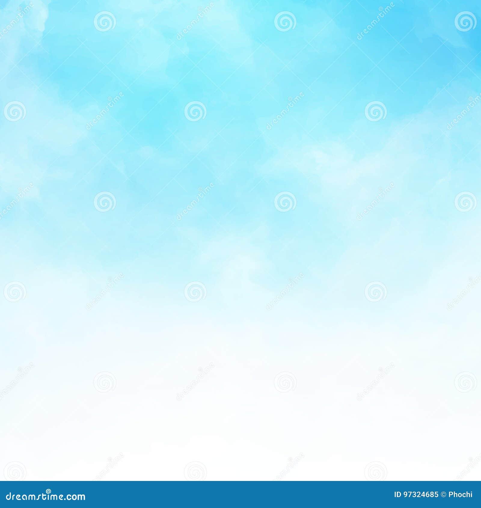 Dettaglio bianco della nuvola nel fondo co dell illustrazione del cielo blu