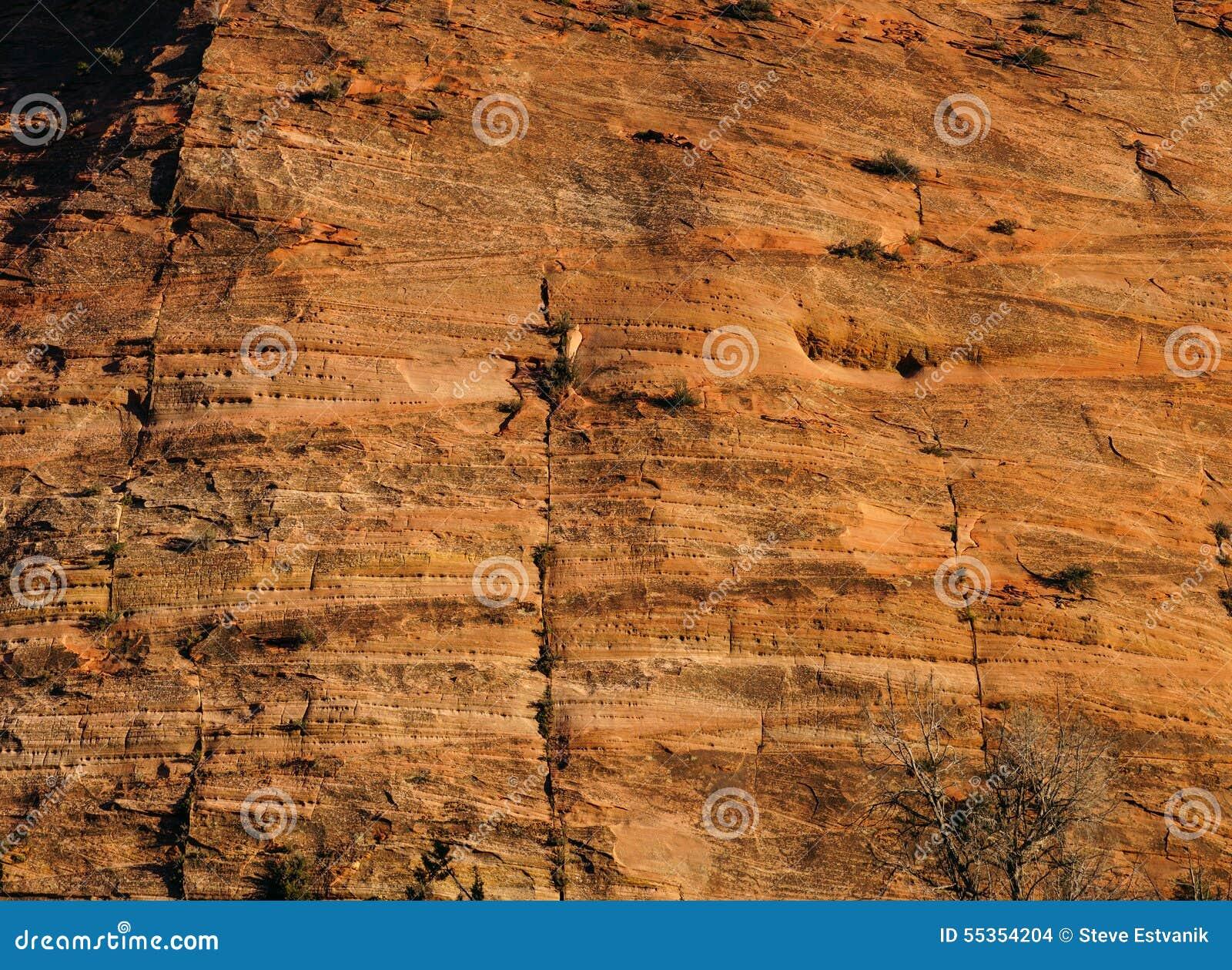 Dettaglio degli strati sedimentari dell arenaria