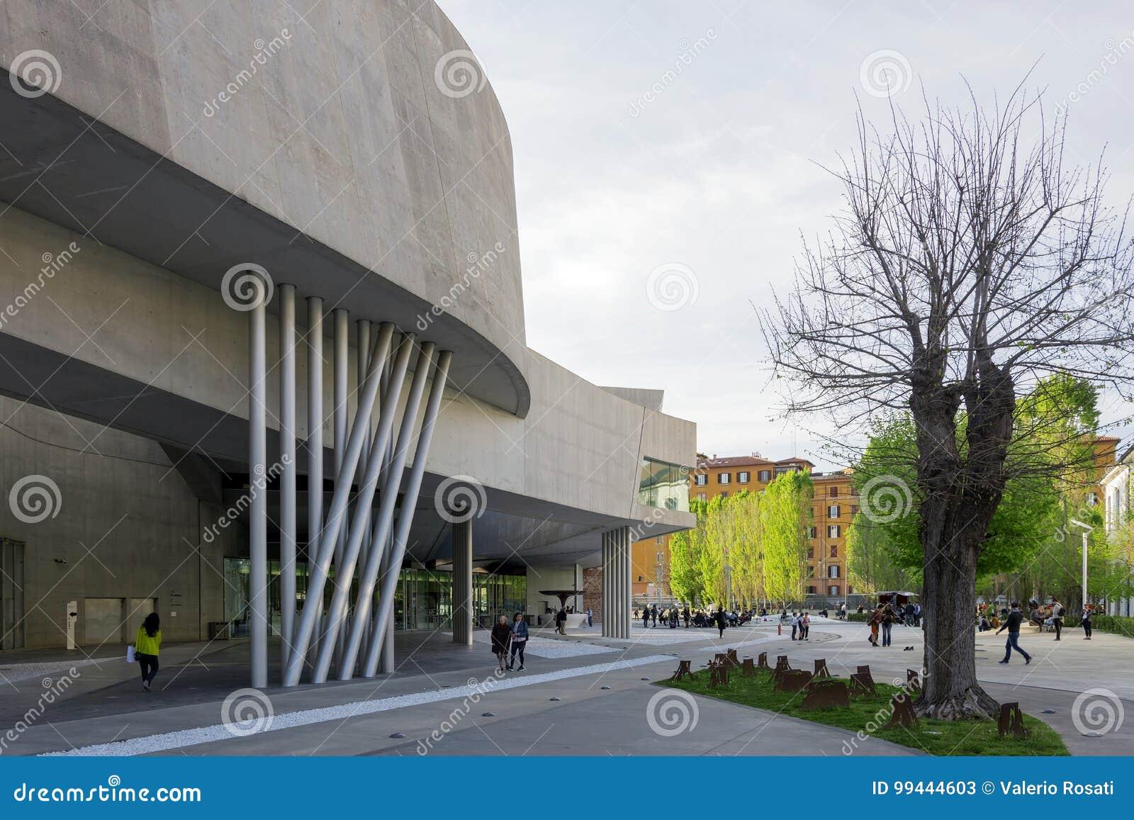 Dettaglio del museo di Maxxi a Roma