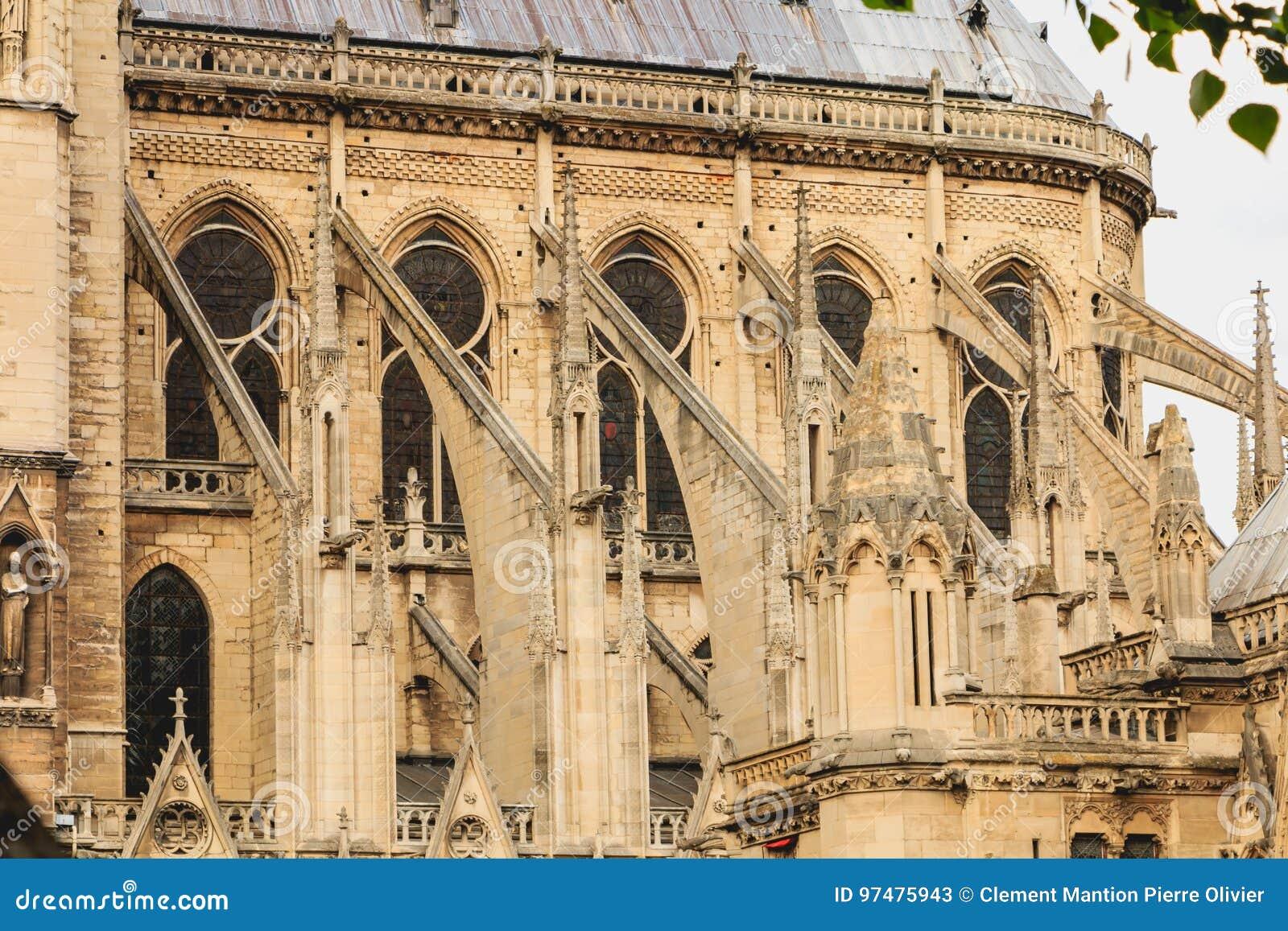 Dettaglio dell architettura della cattedrale di Notre-Dame