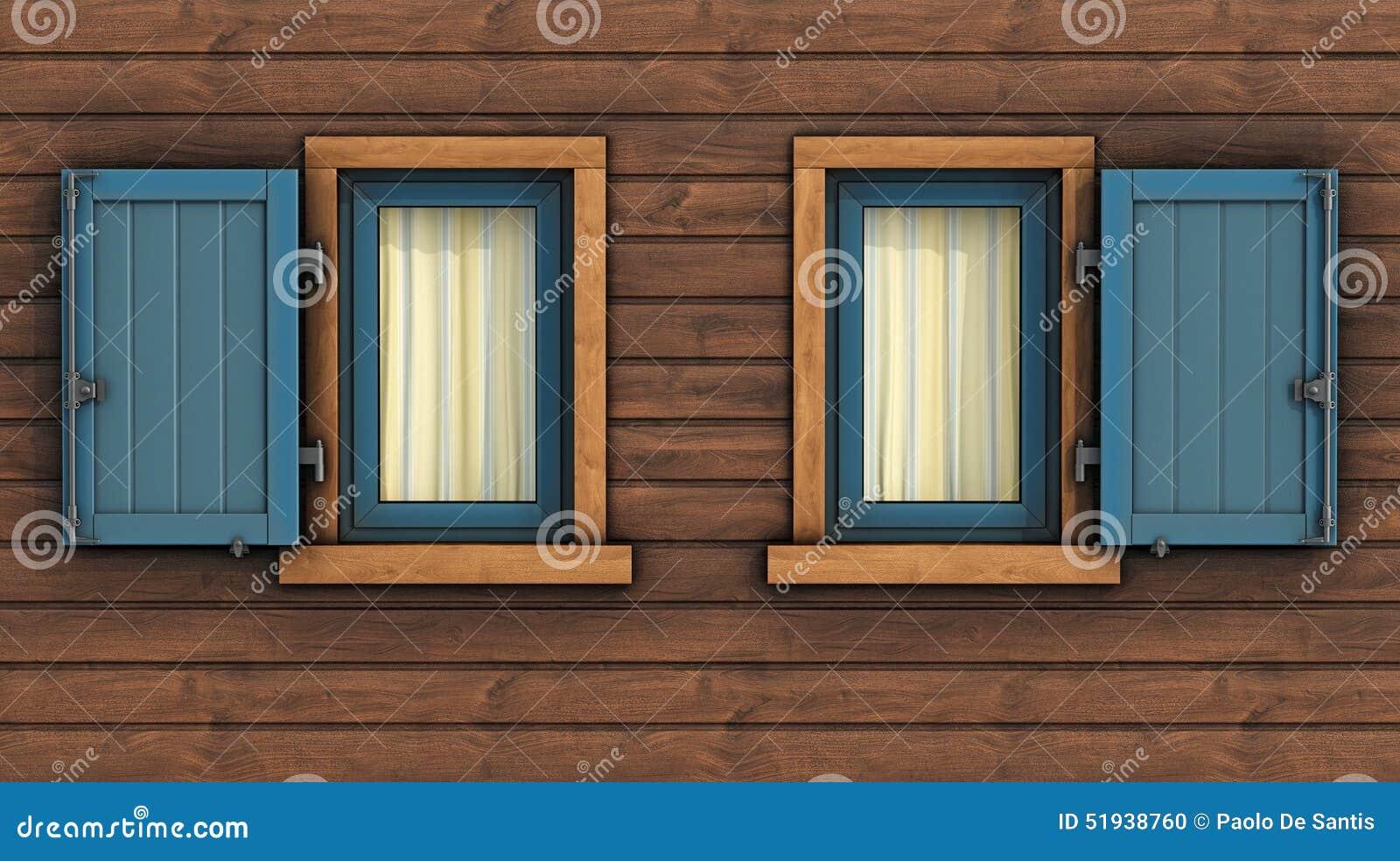 Dettaglio della facciata di una casa di legno for Una pianta della casa di legno