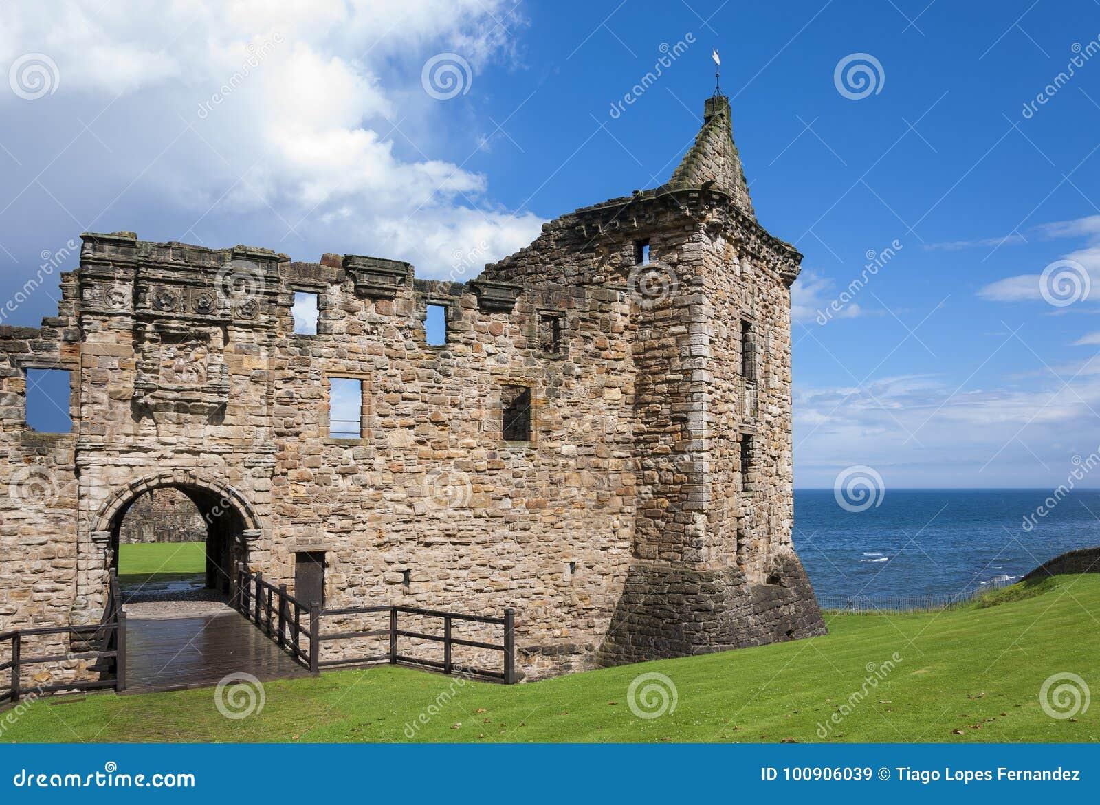 Dettaglio della st Andrews Castle a Burgh reale di St Andrews in Fife, Scozia