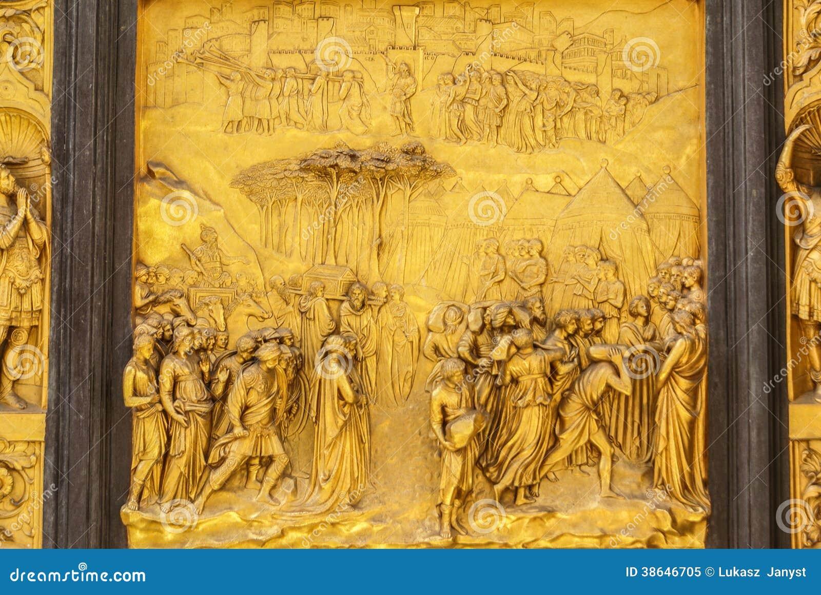 Dettaglio delle porte del paradiso in Battisteroi