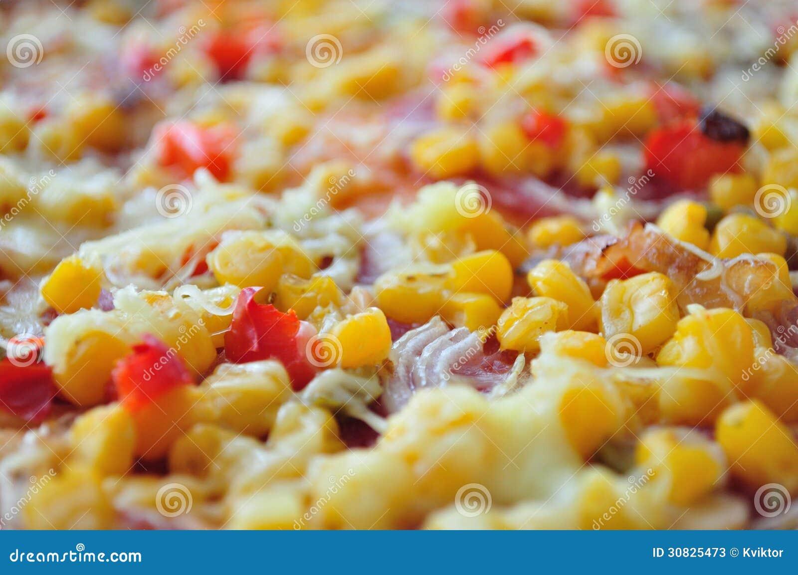Dettaglio di pizza con cereale