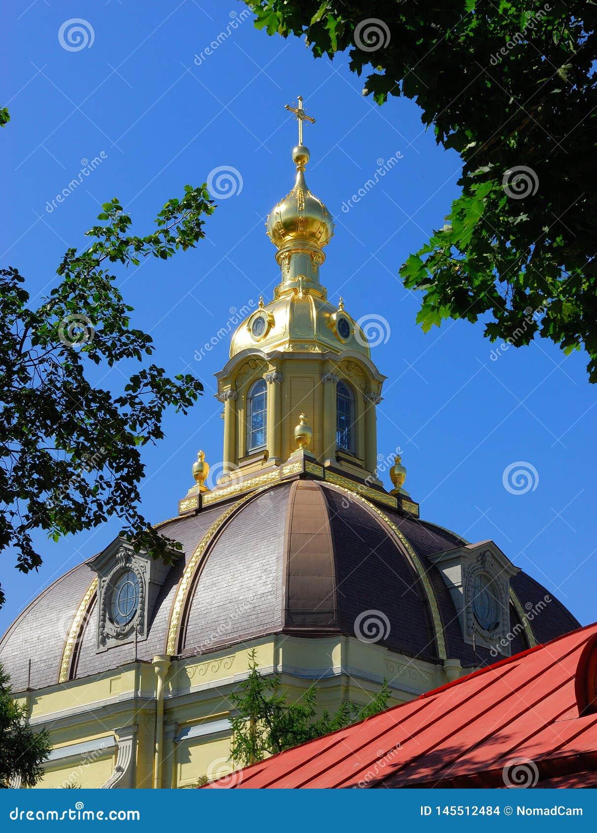 Dettaglio di una cupola a St Petersburg, Russia