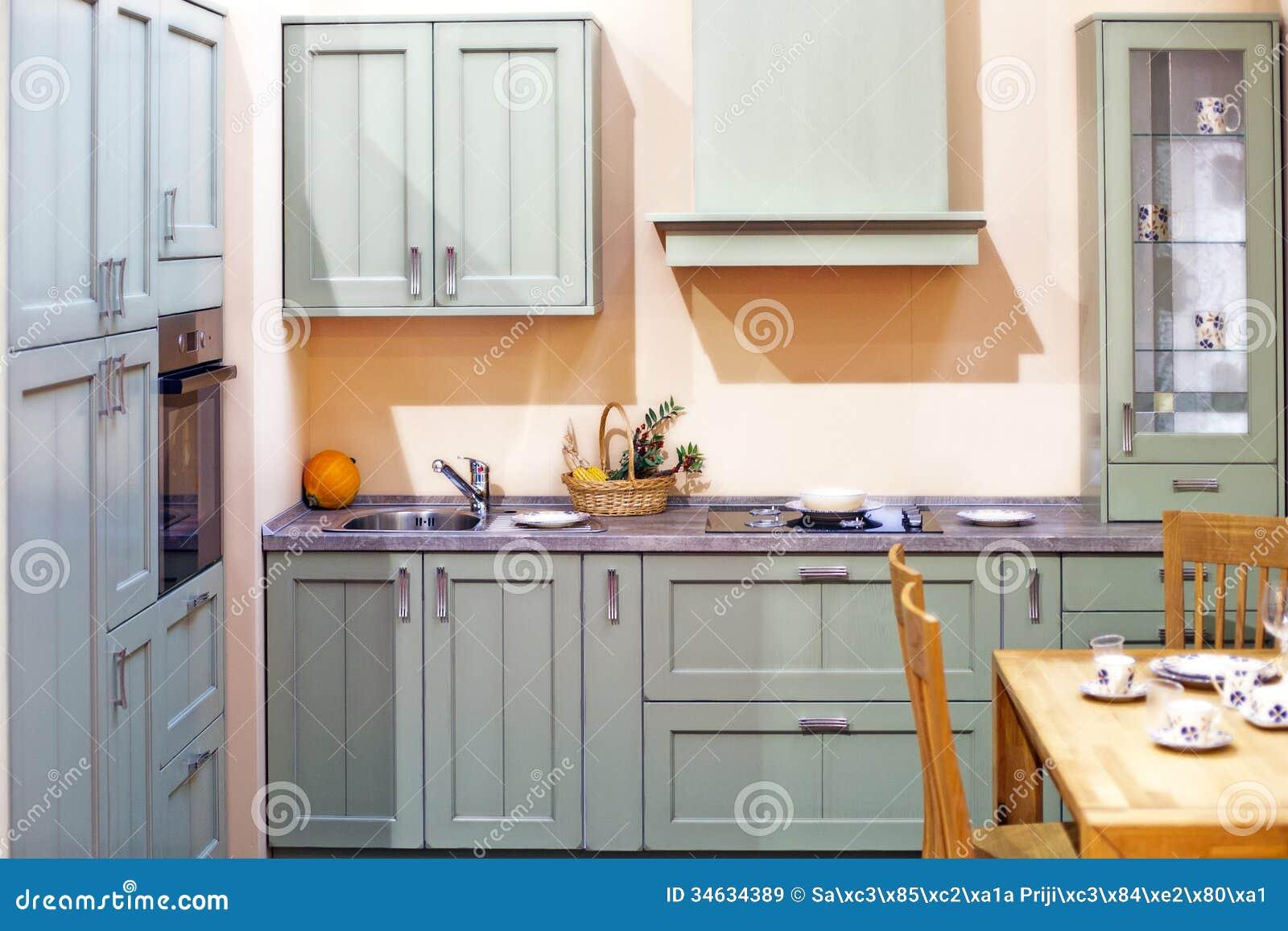Dettaglio Interno Della Cucina Di Classe Immagine Stock - Immagine ...