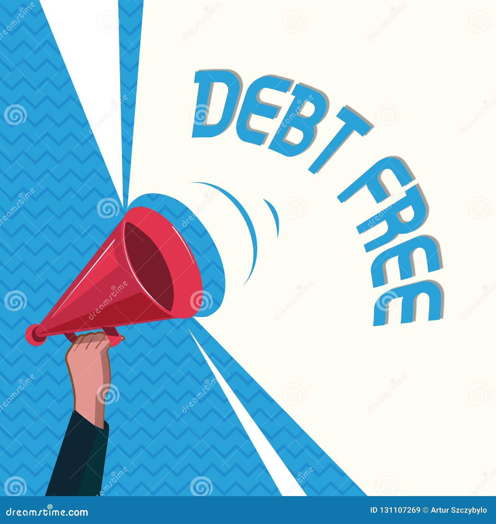DETTE des textes d écriture de Word GRATUITE Concept d affaires pour la liberté financière ne devant pas à tout argent des affair