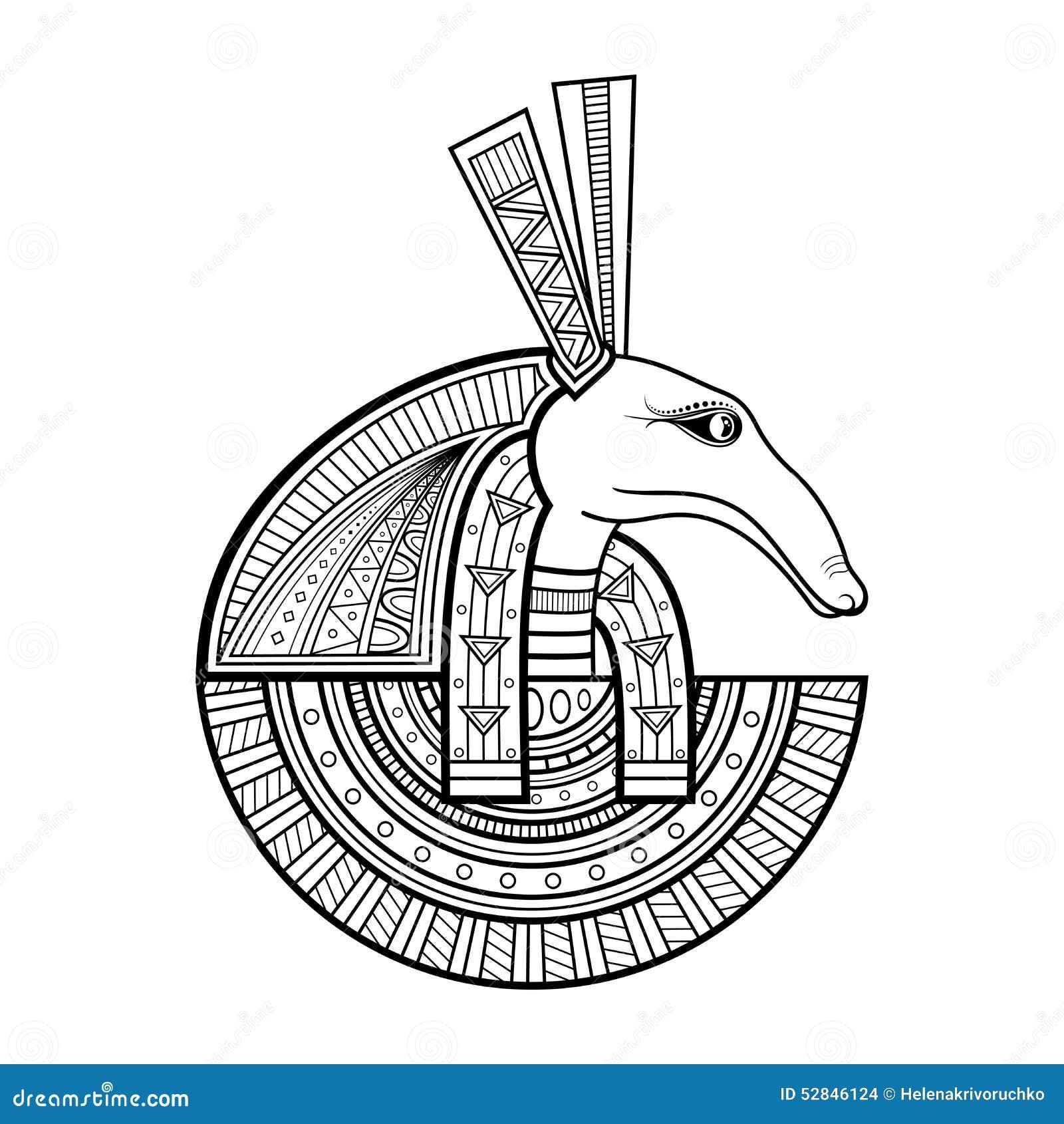 Deus do vetor de Egito antigo