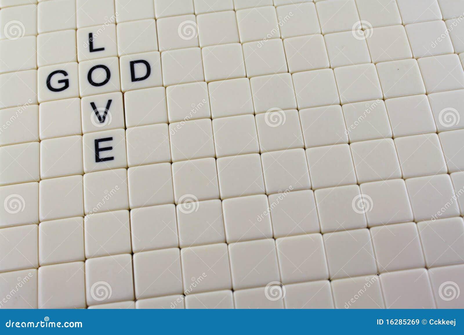 Deus/palavras Cruzadas Do Amor Imagens de Stock Royalty Free Imagem  #84A824 1300 957