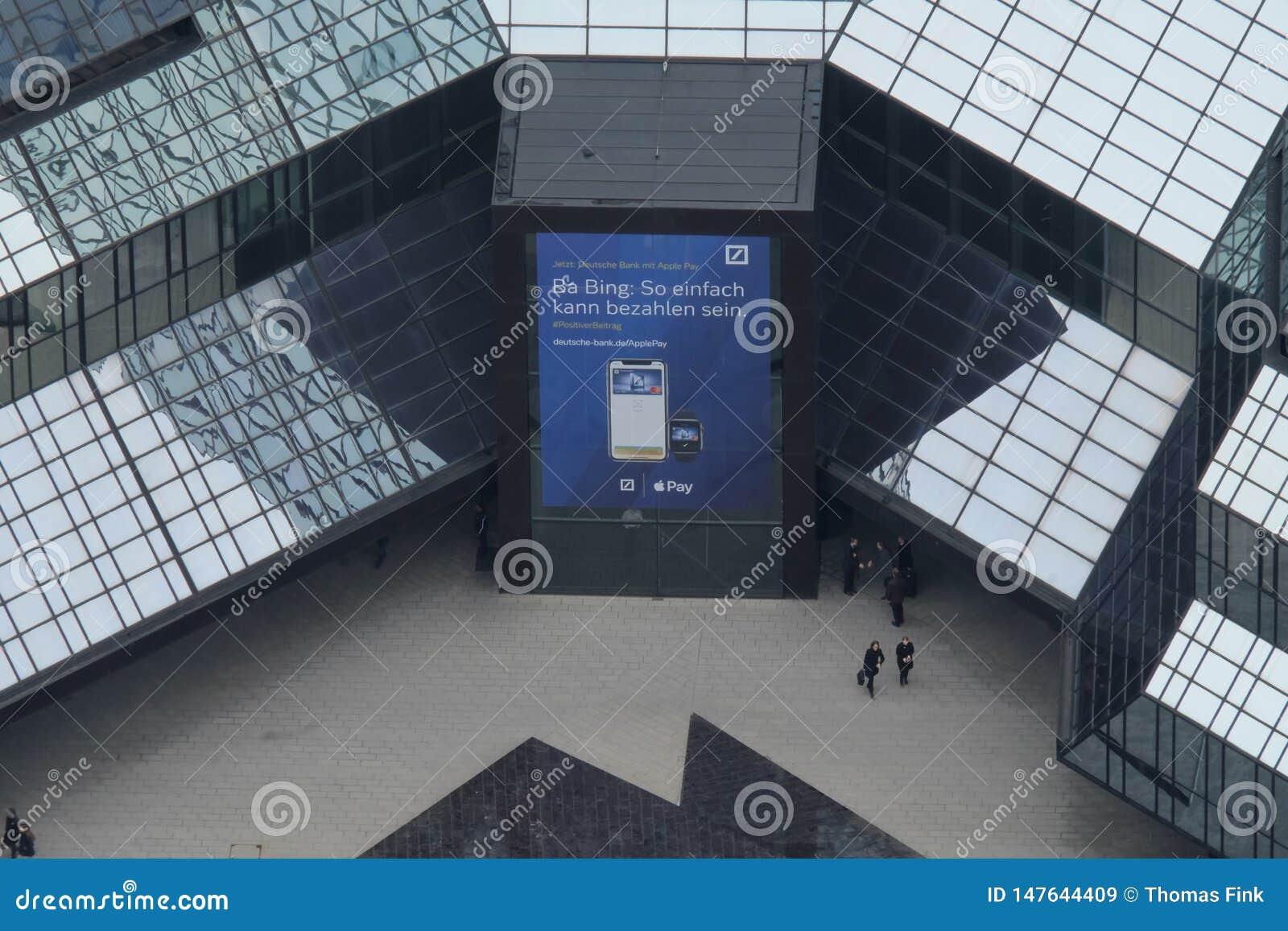 Deutsche Bank ing?ngsArial sikt i Frankfurt
