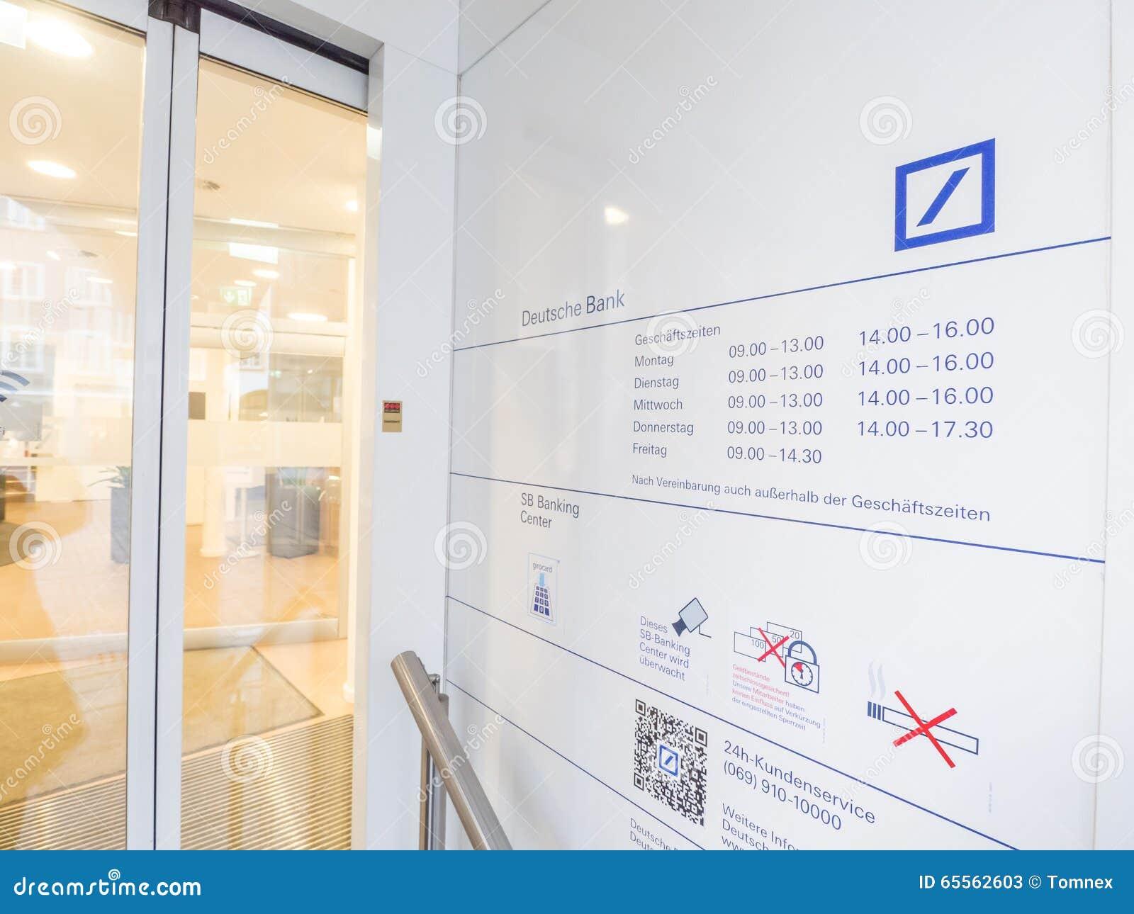 Offnungszeiten Deutsche Bank