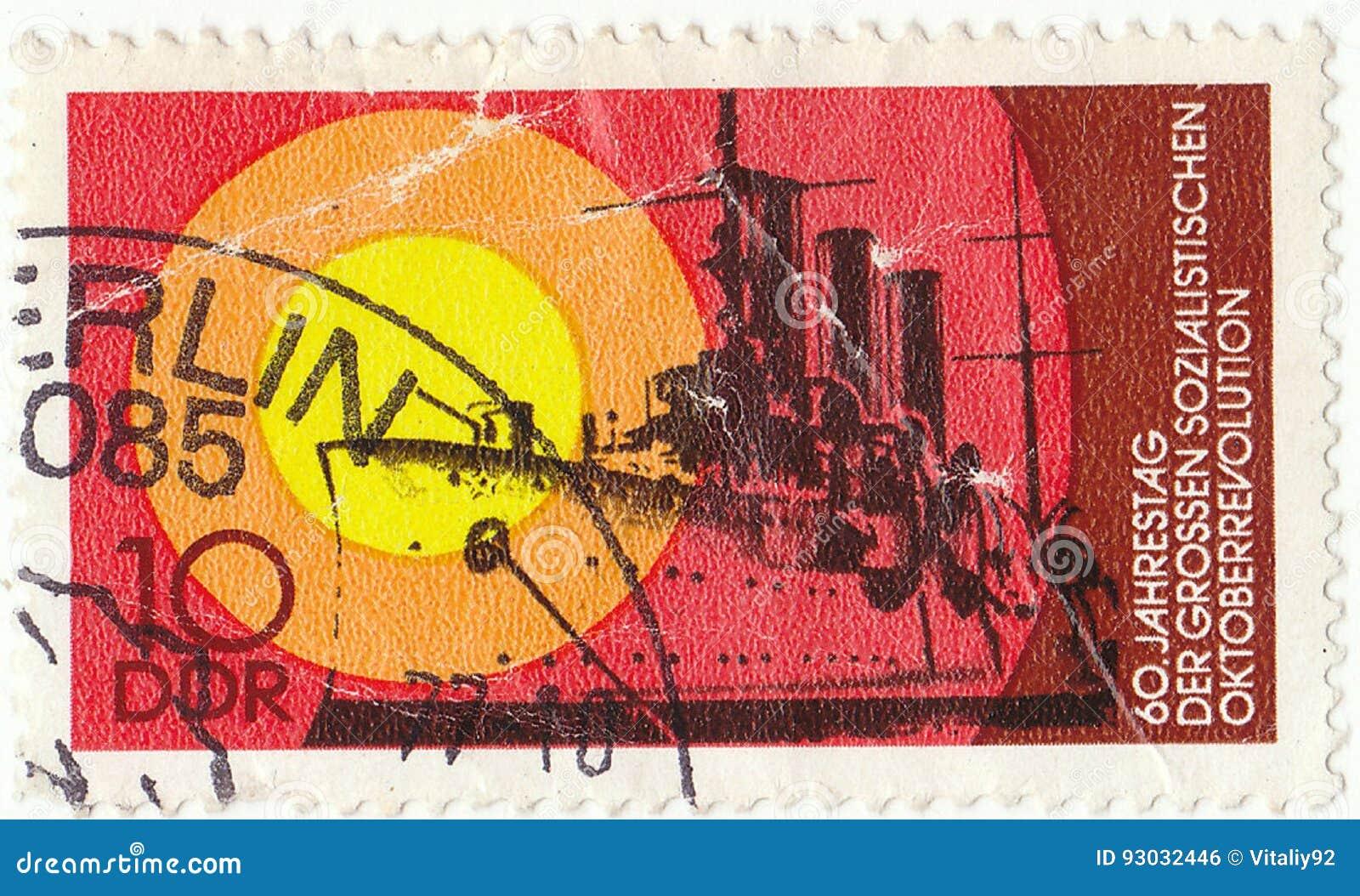 Deutsche Briefmarke Redaktionelles Foto Bild Von Markierung 93032446