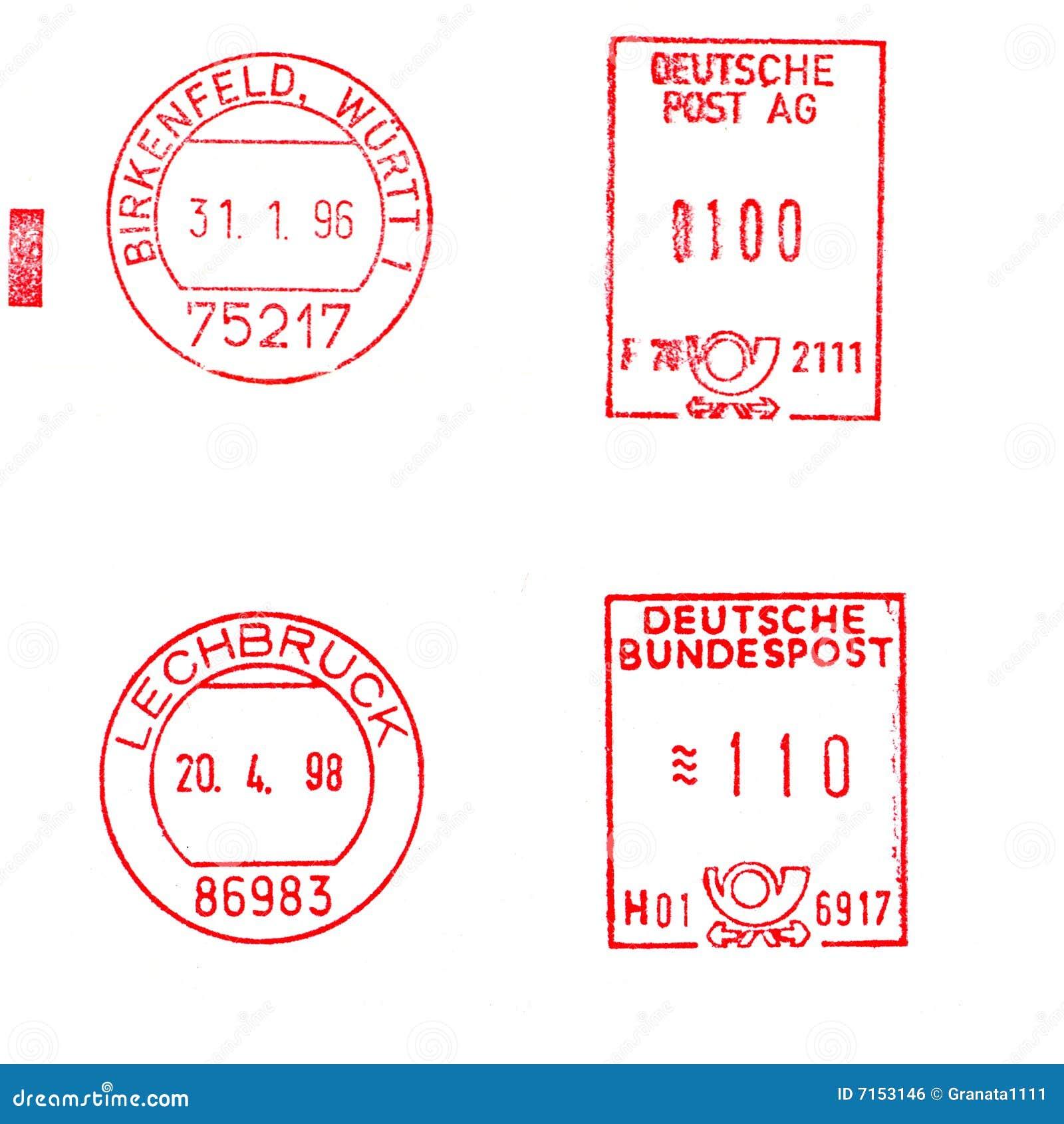 Deutsche Briefmarken Stockfoto Bild Von Kommunikation 7153146