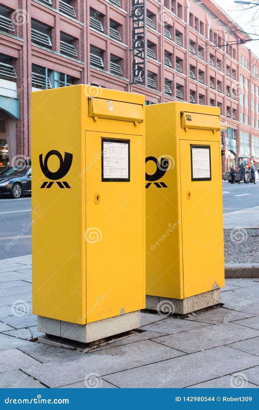 Deutsche Post gul brevlåda