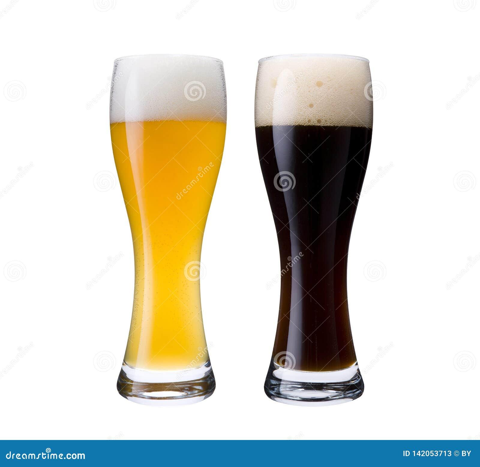 Deutsches weißes und dunkles Bier